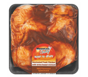 Mountain Valley BBQ spatchcock chicken