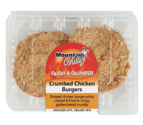 Mountain Valley chicken burgers