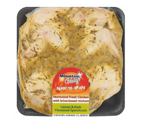 Mountain Valley lemon and herb spatchcock chicken