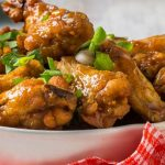 chicken wings with blue-cheese sauce