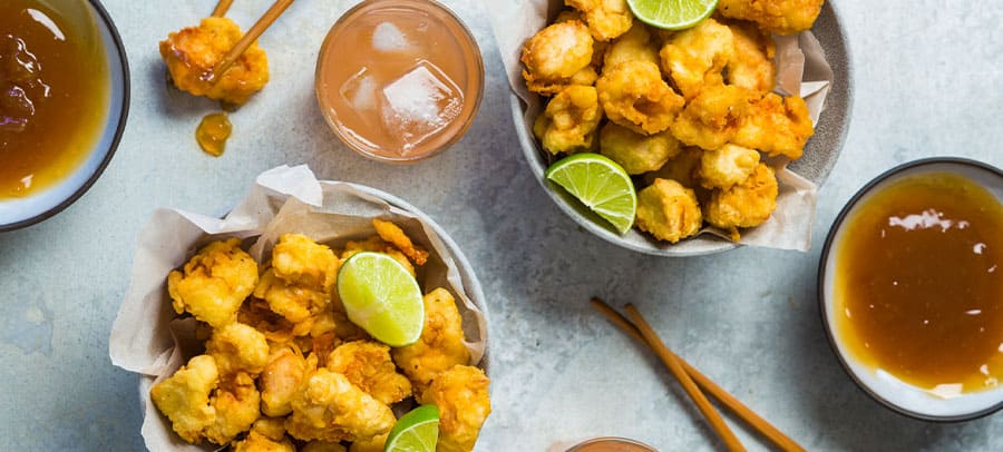 tempura-battered chicken bites