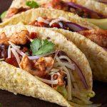 Tex-mex chicken tacos