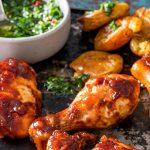 chicken with crispy potatoes
