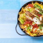 fajita chicken and corn nachos