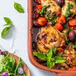 tomato, olive and pancetta chicken