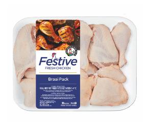 Festive chicken braaipack