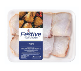Festive chicken thighs