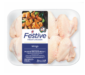 Festive chicken wings