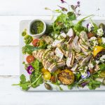 lemon-grilled chicken salad